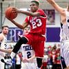 12-18-15<br /> Northwestern vs Maconaquah boys basketball<br /> Maconaquah's Keron Hullum<br /> Kelly Lafferty Gerber | Kokomo Tribune