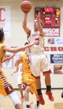 12-15-15<br /> Taylor vs Alexandria boys basketball<br /> Taylor's Cole Schroeder<br /> Kelly Lafferty Gerber | Kokomo Tribune