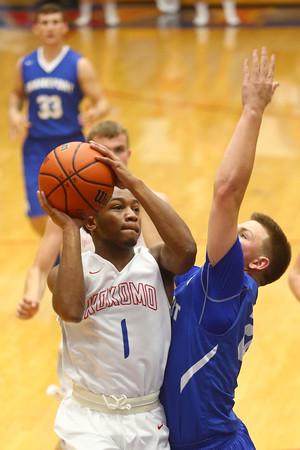 12-12-15<br /> Kokomo vs Frankfort boys basketball<br /> Kokomo's Jeron Gray<br /> Kelly Lafferty Gerber | Kokomo Tribune