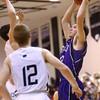 12-4-15<br /> Western vs Northwestern boys basketball<br /> Northwestern's Noah Dowden<br /> Kelly Lafferty Gerber | Kokomo Tribune