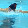 Boys and girls swimming at KHS between Kokomo and Northwestern on Dec., 13, 2015. KHS's Brooke Dill swimming the 100 fly.<br />  Tim Bath | Kokomo Tribune