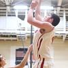 12-15-15<br /> Taylor vs Alexandria boys basketball<br /> Taylors Donovan Renbarger<br /> Kelly Lafferty Gerber | Kokomo Tribune