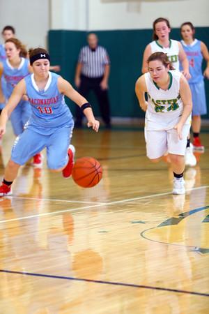 Girls basketball between Eastern HS and Maconaquah HS Dec., 5, 2015. Maconaquah's Courtney Campbell steels the ball from Eastern's Abby Kolk in the 2nd quarter.<br /> Tim Bath | Kokomo Tribune