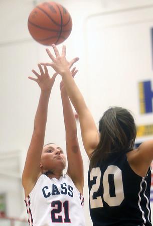 12-19-15<br /> Lewis Cass vs Western girls basketball<br /> Cass' Ashton McClain<br /> Kelly Lafferty Gerber | Kokomo Tribune