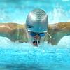 Boys and girls swimming at KHS between Kokomo and Northwestern on Dec., 13, 2015. KHS's Max White swimming the 100 fly.<br />  Tim Bath | Kokomo Tribune