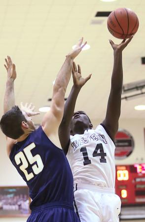 12-22-15<br /> Western vs Oak Hill boys basketball<br /> Western's Josue' Hicks<br /> Kelly Lafferty Gerber | Kokomo Tribune
