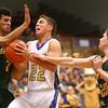 12-11-15<br /> Tri Central vs Eastern boys basketball<br /> Tri Central's Colten Leininger gets fouled<br /> Kelly Lafferty Gerber | Kokomo Tribune