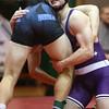 12-30-15<br /> Wrestling Invitational<br /> Northwestern's Evan Cardwell and Tipton's Noah Hill in the 170.<br /> Kelly Lafferty Gerber | Kokomo Tribune