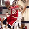 12-29-15<br /> Peru vs Maconaquah boys basketball<br /> Maconaquah's Keron Hullum<br /> Kelly Lafferty Gerber | Kokomo Tribune