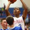 12-12-15<br /> Kokomo vs Frankfort boys basketball<br /> Kokomo's Keenen Wheeler<br /> Kelly Lafferty Gerber | Kokomo Tribune