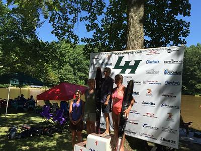 Womens 5 Slalom: Donna, Darlene, Ruthie, Kathy.