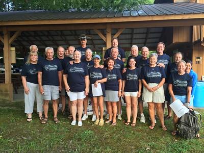 Officials wearing Thursday t-shirts, Malibu Boats sponsor.