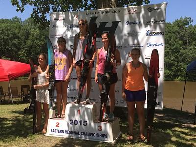 W1 podium: Caroline, Ellie, Randolph, Taylor, Kalen.