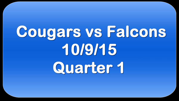 Cougars V Falcons Game 2