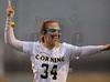 Girls High School Junior Varsity Lacrosse. Horseheads Blue Raiders at Corning Hawks. April 9, 2015.