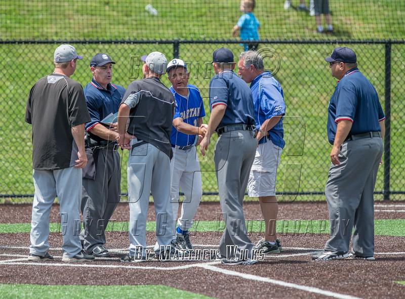 New York State High School Class A Baseball Final. Byram Hills vs Queensbury. June 13, 2015.