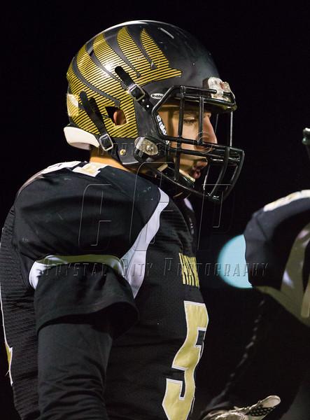 High School Varsity Football.  Vestal Golden Bears at Corning Hawks. October 1, 2015.