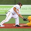 7-18-15<br /> Jackrabbits vs West Virginia<br /> Dan Ward slides to second safely before Chris Amato can get the tag.<br /> Kelly Lafferty Gerber | Kokomo Tribune