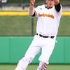 7-18-15<br /> Jackrabbits vs West Virginia<br /> Sal Taormina snatches the ball after it bounces to him.<br /> Kelly Lafferty Gerber | Kokomo Tribune