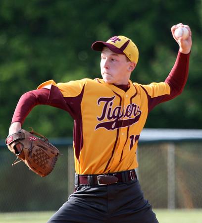 6-2-15<br /> Taylor vs Alexandria baseball<br /> Alexandria pitcher Braxton Moore<br /> Kelly Lafferty Gerber | Kokomo Tribune