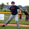 6-19-15<br /> Minor League Championship<br /> Salsbery's Trey Stone eyes first for the throw.<br /> Kelly Lafferty Gerber | Kokomo Tribune