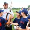 6-19-15<br /> Minor League Championship<br /> Salsbery receives their trophy after winning the Minor League youth baseball championship.<br /> Kelly Lafferty Gerber | Kokomo Tribune