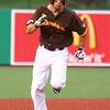 6-30-15<br /> Jackrabbits vs Quincy Gems<br /> Chris Amato runs to third base.<br /> Kelly Lafferty Gerber   Kokomo Tribune