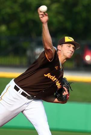 6-30-15<br /> Jackrabbits vs Quincy Gems<br /> Ryan Fritze pitches.<br /> Kelly Lafferty Gerber | Kokomo Tribune