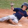 6-19-15<br /> Minor League Championship<br /> Salsbery's  Nathan Gremelspacher slides to home for a run.<br /> Kelly Lafferty Gerber | Kokomo Tribune