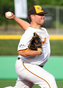 6-11-15 Jackrabbits vs Sliders Ryan Fleming pitches. Kelly Lafferty Gerber | Kokomo Tribune