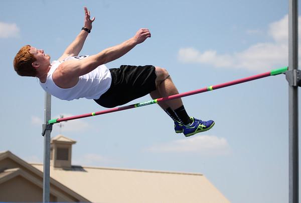 5-2-15<br /> Kokomo Relays<br /> Western's Zach Shahan in the high jump.<br /> Kelly Lafferty Gerber | Kokomo Tribune