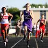 5-21-15<br /> Boys Track Sectional<br /> Northwestern's Owen Munson in the 400 M dash.<br /> Kelly Lafferty Gerber | Kokomo Tribune