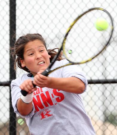 5-20-15<br /> Kokomo vs Western tennis<br /> Kokomo 2 singles Juliana Del Bosque Lopez<br /> Kelly Lafferty Gerber   Kokomo Tribune