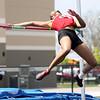 5-2-15<br /> Kokomo Relays<br /> Kokomo's Deju Miller during the high jump.<br /> Kelly Lafferty Gerber   Kokomo Tribune