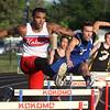 5-21-15<br /> Boys Track Sectional<br /> Kokomo's Jordan Nix in the 300 M hurdles.<br /> Kelly Lafferty Gerber   Kokomo Tribune