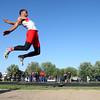 5-21-15<br /> Boys Track Sectional<br /> Kokomo's Jordan Nix in the long jump.<br /> Kelly Lafferty Gerber | Kokomo Tribune