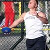 5-21-15<br /> Boys Track Sectional<br /> Western's Corey Hinkle in the discus.<br /> Kelly Lafferty Gerber | Kokomo Tribune
