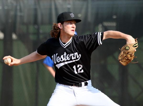 5-29-15<br /> Kokomo vs Western baseball<br /> Western pitcher Dalton Leighty<br /> Kelly Lafferty Gerber | Kokomo Tribune