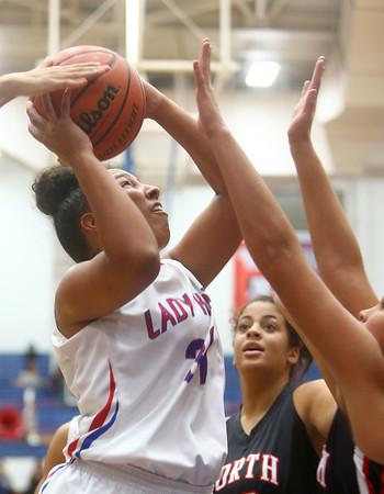 11-5-15<br /> Kokomo vs North Central girls basketball<br /> Kokomo's Allie Lowe<br /> Kelly Lafferty Gerber | Kokomo Tribune