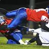 Luke Cameron takes down Westfield's Brandon Karsnick.<br /> Kokomo defeats Westfield 21-19 for the regional championship on Friday, November 13, 2015.<br /> Kelly Lafferty Gerber | Kokomo Tribune