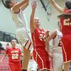 11-7-15<br /> Taylor girls basketball<br /> Savannah Delgado<br /> Kelly Lafferty Gerber | Kokomo Tribune