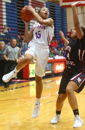 11-5-15<br /> Kokomo vs North Central girls basketball<br /> Jayda Andrews<br /> Kelly Lafferty Gerber   Kokomo Tribune