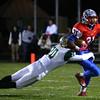 Keenen Wheeler tries to outrun Westfield's Jared Bayha<br /> Kokomo defeats Westfield 21-19 for the regional championship on Friday, November 13, 2015.<br /> Kelly Lafferty Gerber | Kokomo Tribune