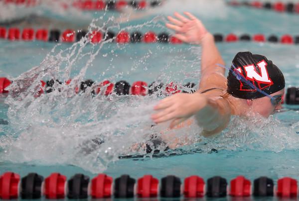 11-17-15<br /> WHS vs KHS swimming<br /> Western's Danielle Pate in the 200 Yard Medley Relay<br /> Kelly Lafferty Gerber   Kokomo Tribune