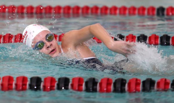 11-17-15<br /> WHS vs KHS swimming<br /> Kokomo's Madison Cleaver in the 200 Yard Medley Relay<br /> Kelly Lafferty Gerber | Kokomo Tribune