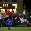 11-6-15<br /> Kokomo football sectional win<br /> Jeron Gray outruns Huntington North's Zack Heal.<br /> Kelly Lafferty Gerber | Kokomo Tribune
