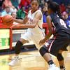 11-5-15<br /> Kokomo vs North Central girls basketball<br /> Kokomo's Quaynika Merriweather<br /> Kelly Lafferty Gerber | Kokomo Tribune