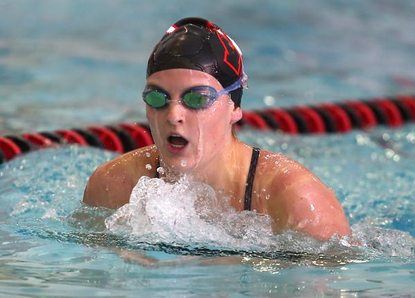 11-17-15<br /> WHS vs KHS swimming<br /> Western's Danielle Pate in the 200 Yard IM<br /> Kelly Lafferty Gerber | Kokomo Tribune