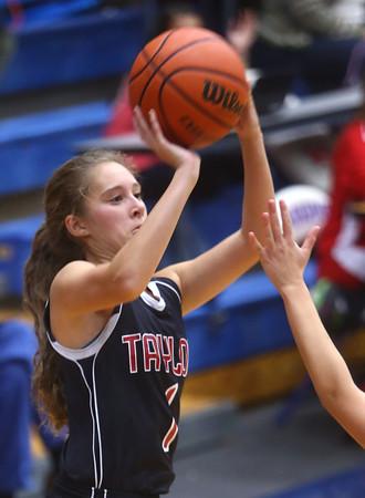 11-11-15<br /> Kokomo vs Taylor girls basketball<br /> Taylor's Savannah Delgado<br /> Kelly Lafferty Gerber | Kokomo Tribune