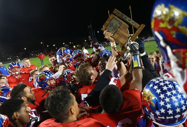 11-6-15<br /> Kokomo football sectional win<br /> The Kokomo football team celebrates after winning sectional.<br /> Kelly Lafferty Gerber | Kokomo Tribune